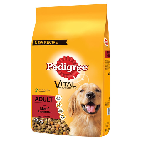 Pedigree Dry Dog Food With Beef And Vegetables 12kg