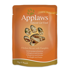 Applaws Natural Cat Pouches With Chicken And Pumpkin In Broth 12 X 70g