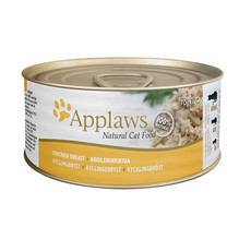 Applaws Natural Cat Tins With Chicken Breast In Broth 24 X 70g