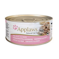 Applaws Natural Cat Tins With Tuna Fillet And Prawn In Broth 24 X 70g
