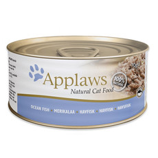 Applaws Natural Cat Tins With Ocean Fish In Broth 24 X 70g