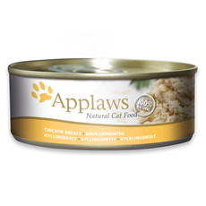 Applaws Natural Cat Tins With Chicken Breast In Broth 24x156g