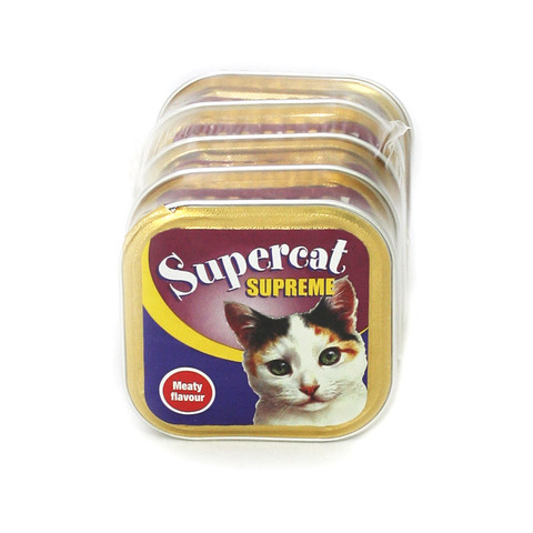 Supercat Meaty Alufoil Cat Food 6 X 5x100g
