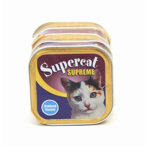 Supercat Seafood Alufoil Cat Food 6 X 5x100g