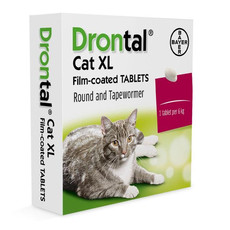 Drontal Cat Xl Worming Tablets 1 Tab To 2 Tab