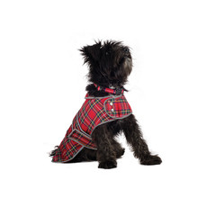 Ancol Highland Red Tartan Dog Coat Small To Large