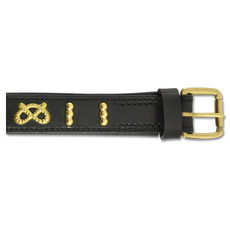 Ancol Deluxe Knot Bull Terrier Black Leather Buckle Dog Collar 55cm To 65cm