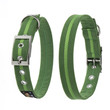Oscar & Hooch Suedette Apple Green Buckle Dog Collar X Small To Large