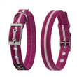 Oscar & Hooch Suedette Hot Pink Buckle Dog Collar X Small To Large