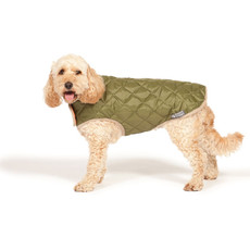 Danish Design Quilted Green Dog Coat 10in To 30in
