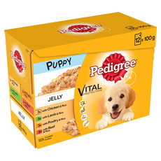 Pedigree Puppy Pouches Mixed Varieties In Jelly 4 X 12x100g