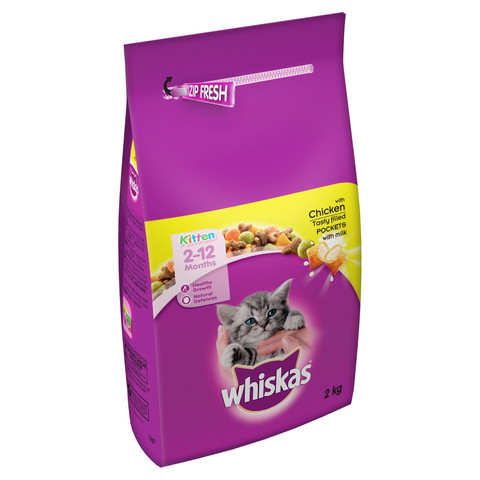 Whiskas 2-12 Months Kitten Complete Dry With Chicken 2kg