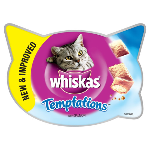 Whiskas Temptations Cat Treats With Salmon 60g To 8 X 60g
