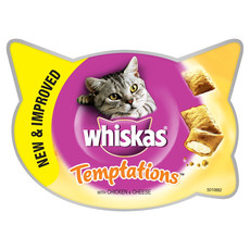 Whiskas Temptations Cat Treats With Chicken & Cheese 60g