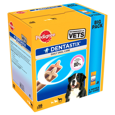 Pedigree Dentastix Daily Oral Care Dental Chews Large Dog 25kg+ 56 Stick