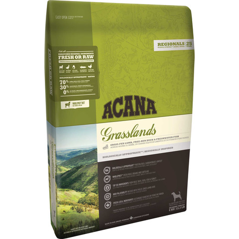 Acana Regionals Grain Free Grasslands All Breeds & Life Stage Dog Food 11.4kg To 2 X 11.4kg
