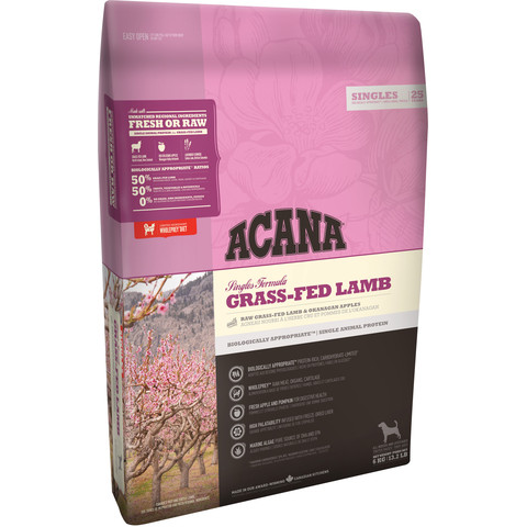 Acana Singles Grain Free Grass-fed Lamb All Breeds & Life Stage Dog Food 11.4kg