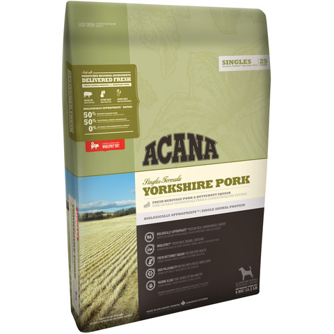 Acana Singles Grain Free Yorkshire Pork All Breeds & Life Stage Dog Food 11.4kg