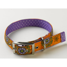 Yellow Dog Design Uptown Folk Flowers Buckle Dog Collar Small To Large