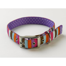 Yellow Dog Design Uptown Multi Stripe Buckle Dog Collar Small To Large