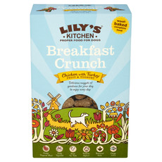 Lilys Kitchen Proper Food For Dogs Breakfast Crunch Chicken With Turkey, Fruit & Yoghurt 800g