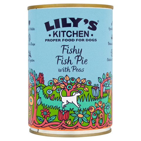 Lilys Kitchen Proper Food For Dogs Fishy Fish Pie With Peas 6 X 400g