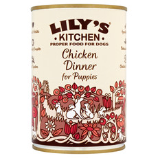 Lilys Kitchen Chicken Dinner For Puppies Grain Free Wet Dog Food 6 X 400g