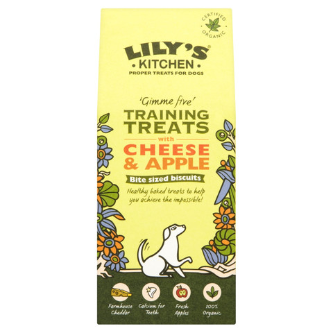 Lilys Kitchen Organic Cheese And Apple Training Treats For Dogs 100g