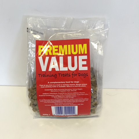 Premium Value Training Treats For Dogs 500g To 24 X 500g
