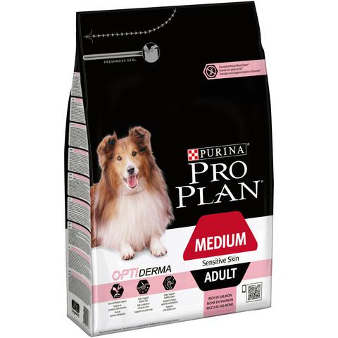 Pro Plan Medium Breed Optiderma Adult Dog Food For Sensitive Skin With Salmon 3kg To 14kg