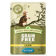 James Wellbeloved Grain Free Kitten Pouches With Lamb 12 X 85g