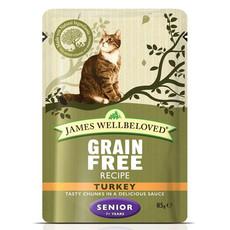 James Wellbeloved Grain Free Senior Cat Pouches With Turkey 12 X 85g