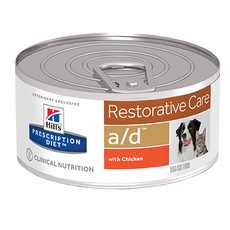 Hills Prescription Diet A/d Canine/feline Restorative Care Wet Tins 24x156g