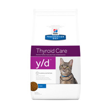 Hills Prescription Diet Y/d Feline Thyroid Care Chicken Dry Foods 1.5kg