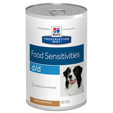 Hills Prescription Diet D/d Canine Food Sensitivities Lamb Wet Tins 12x370g