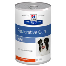 Hills Prescription Diet N/d Canine Restorative Care Chicken Wet Tins 12x360g
