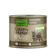 Natures Menu Country Hunter Full Flavoured Rabbit Grain Free Dog Food Cans 6 X 600g
