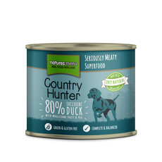 Natures Menu Country Hunter Succulent Duck Grain Free Dog Food Cans 6 X 600g
