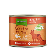 Natures Menu Country Hunter Salmon And Chicken Grain Free Dog Food Cans 6 X 600g
