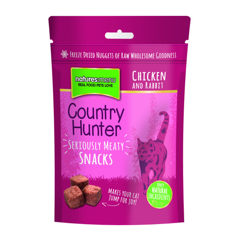 Natures Menu Country Hunter Freeze Dried Grain Free Cat Treats With Chicken & Rabbit 10 X 40g