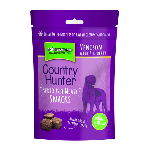 Natures Menu Country Hunter Freeze Dried Grain Free Dog Treats With Venison 10 X 50g