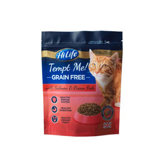 Hilife Tempt Me! Grain Free Salmon & Ocean Fish Semi Moist Cat Food 300g