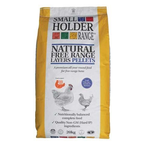 Allen & Page Small Holder Range Natural Free Range Layers Pellets Poultry Feed 20kg