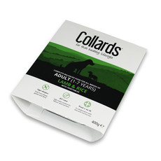 Collards Hypo-allergenic Adult Dog Wet Tray With Lamb And Rice 10 X 400g