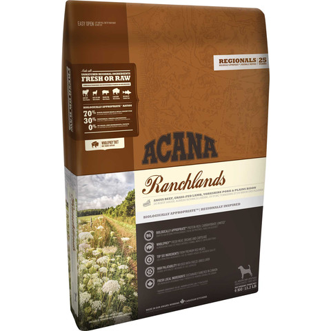 Acana Regionals Grain Free Ranchlands All Breeds & Life Stage Dog Food 11.4kg