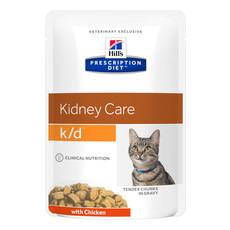 Hills Prescription Diet K/d Feline Kidney Care Chicken Wet Pouches 12x85g