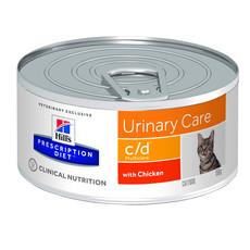 Hills Prescription Diet C/d Multicare Feline Urinary Care Chicken Wet Tins 24x156g