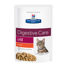 Hills Prescription Diet I/d Feline Digestive Care Chicken Wet Pouches 12x85g