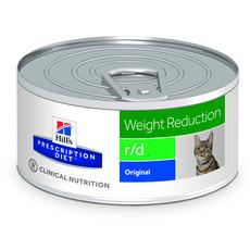 Hills Prescription Diet R/d Feline Weight Reduction Original Wet Tins 24x156g