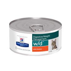 Hills Prescription Diet W/d Feline Digestive Weight Management Chicken Wet Tins 24x156g